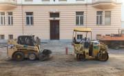 Mini izkopača v centru Ljubljane (foto: Špela Cvetko)