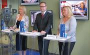 Tiskovna konferenca v avli TV Slovenija 3. septembra (fotografija: MMC RTV SLO)