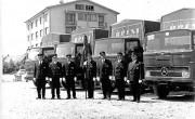 Cerknica — šoferji v slavnostnih uniformah v letu 1970