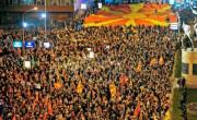 Protesti v makedoniji.