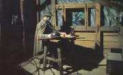 Iz Kobariškega muzeja: vojak piše pismo domov