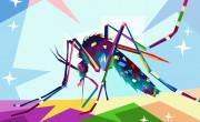 [pisana risba samice komarja, ki čudovito ujame njen joie de vivre]