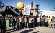 Gladovna stavka migrantov v Vučjaku