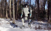Robot in sneg