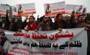 Protesti v podporo paštunskemu aktivistu