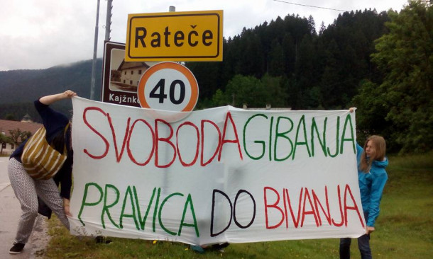 Refugees welcome in Ratece