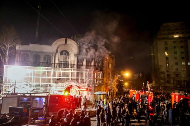 zadimljena ambasada Savdske Arabije