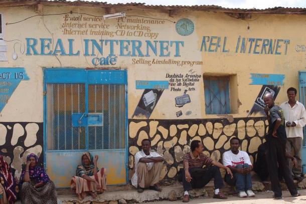 Etiopija internet cafe