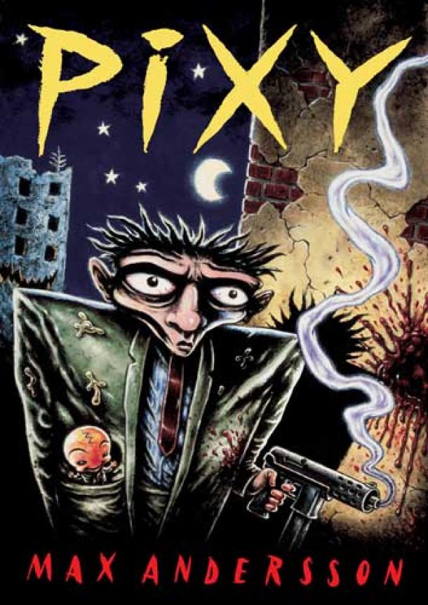 Naslovnica stripa Pixy, izdanega pri Stripforumu Ljubljana