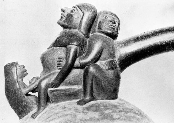 Perujski kipec rojstva, najden v grobu (Volkerkundemuseum, Berlin)