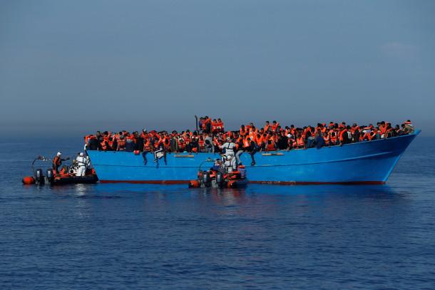 migranti na sredozemski poti v Italijo