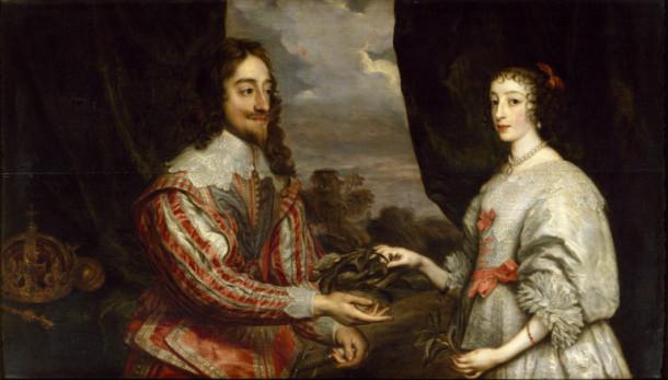 Karl I in Henrieta Marija
