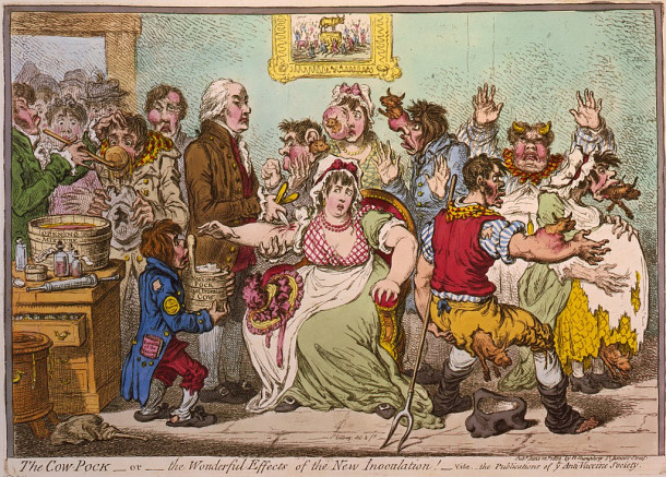 Ilustracija proti cepljenju črnih koz