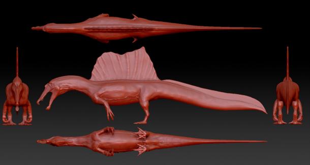 Broke: Chicken T-rex. Woke: Newt Spinosaurus